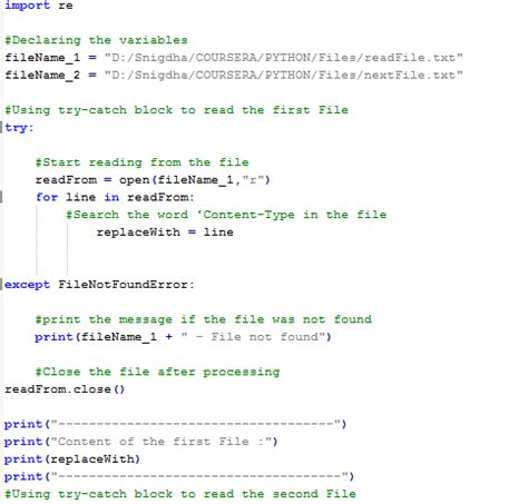 What is the python script to copy content from a file and