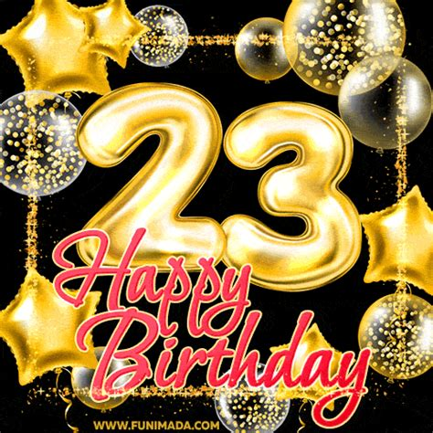 animated happy 23rd birthday clipart 10 free Cliparts
