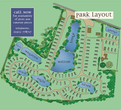 Lowfields Country Retreat » Park layout