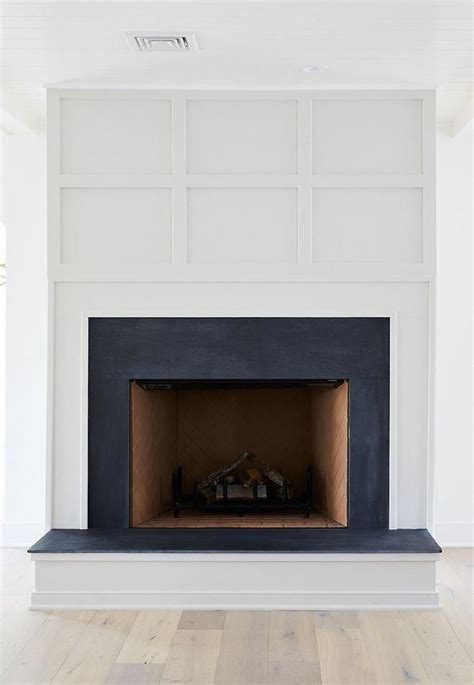 Grid Board and Batten Fireplace Paint Color Benjamin Moore