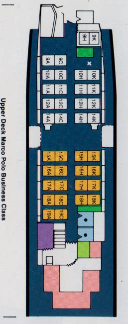 Vintage Airline Seat Map: Cathay Pacific Boeing 747-400