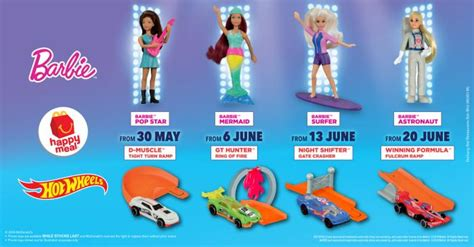 McDonald's FREE Barbie & Hot Wheels Happy Meal Toys (30