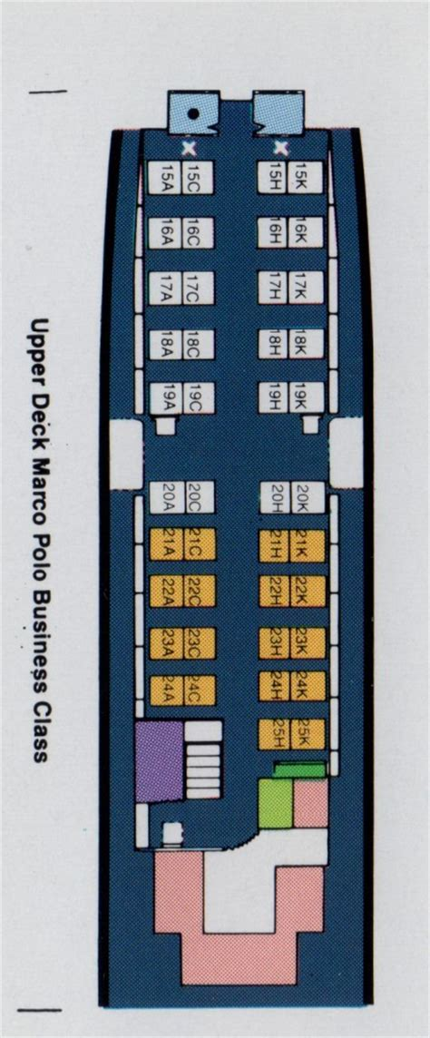 Vintage Airline Seat Map: Cathay Pacific Boeing 747-300