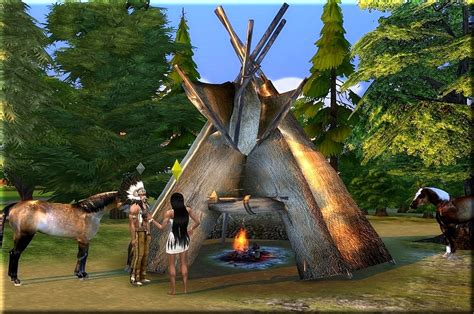 Sims 4 CC's - The Best: Indianer Tipi by Asylaraber02