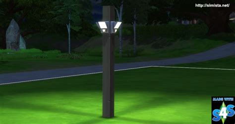 Simista: Lights for fences and columns • Sims 4 Downloads